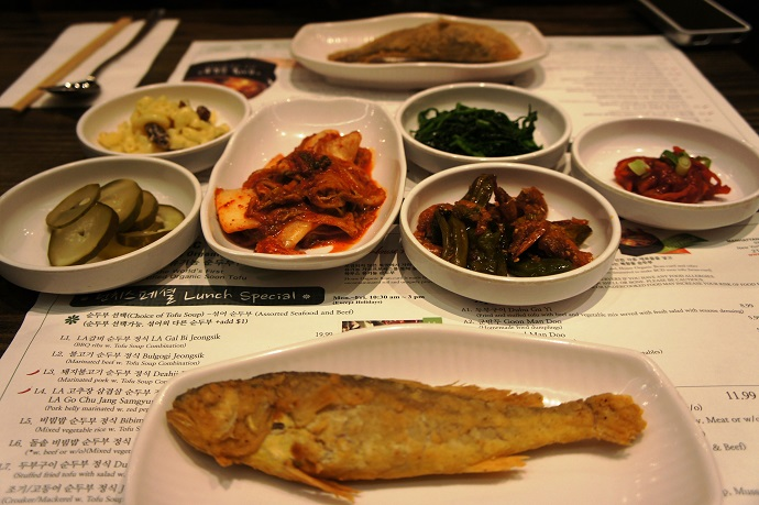 BCD Tofu House side dishes