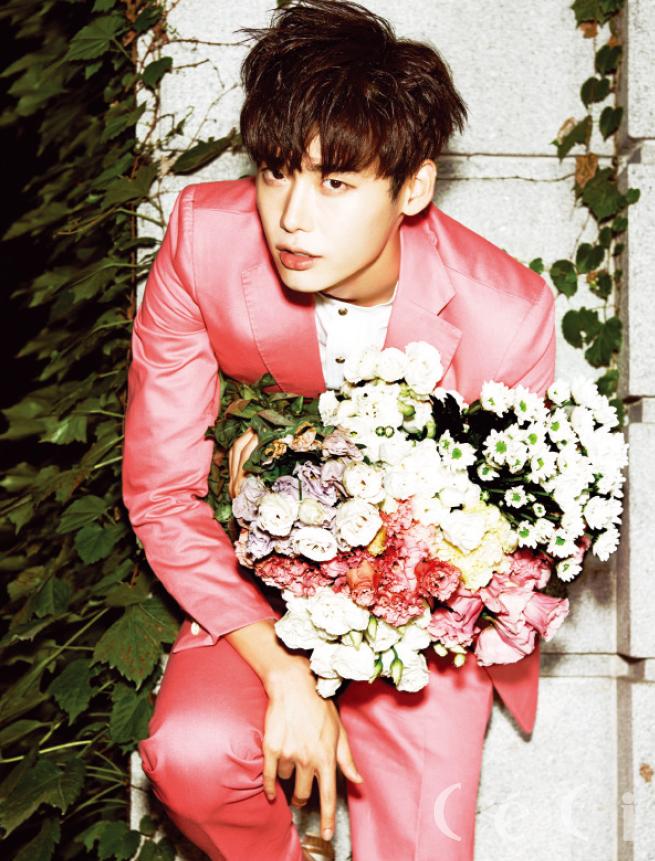 Lee Jong Suk pink