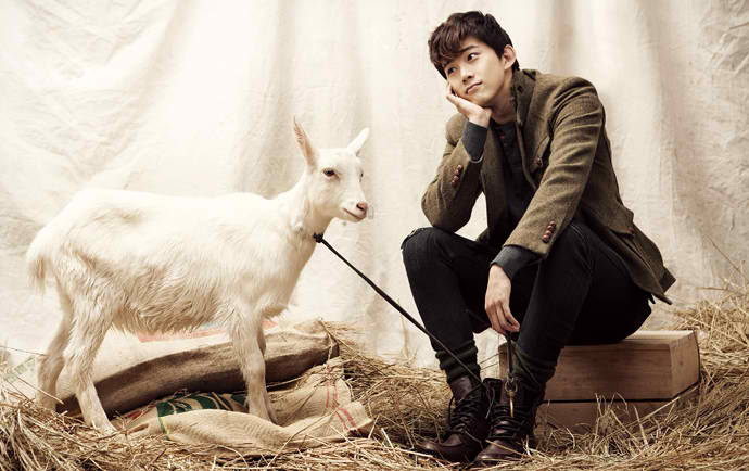 Taecyeon and goat