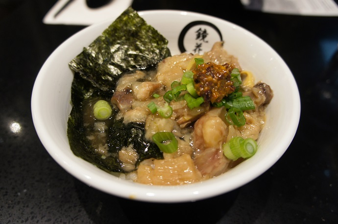 Slow-Cooked Beef Tendon Donburi - slow-cooked beef tendon, sake, mirin, soy sauce, ginger, green onion