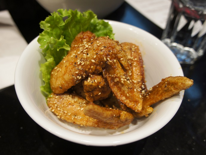 Karaage Chicken Wings - ginger, garlic, chashu sauce, mirin, white sesame seeds